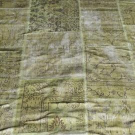 Vintage patchwork Turks Carpet Green Vintage
