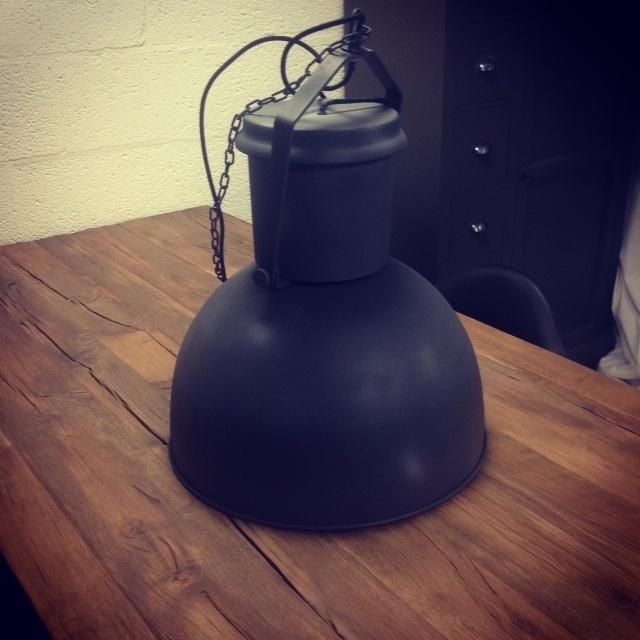 Fabriekslamp Industrieel 40cm donkergrijs