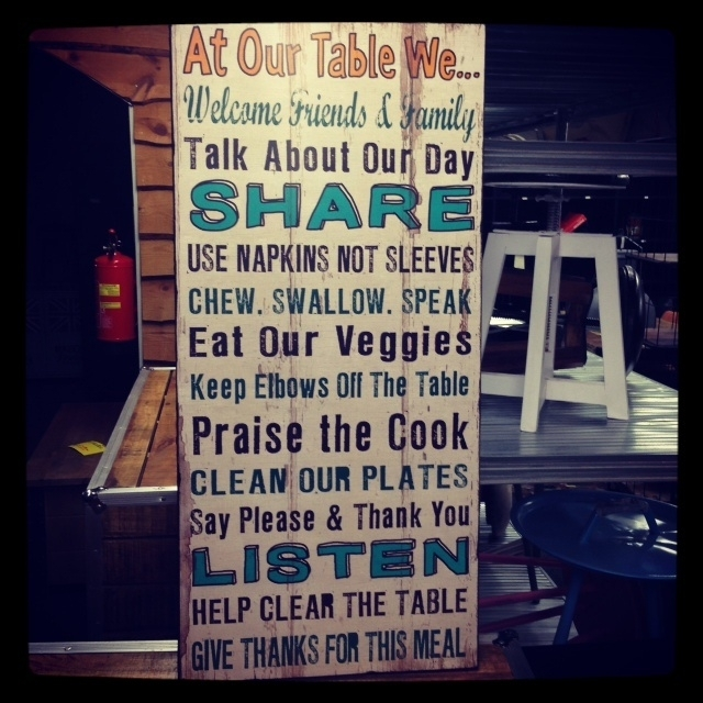 At our Table