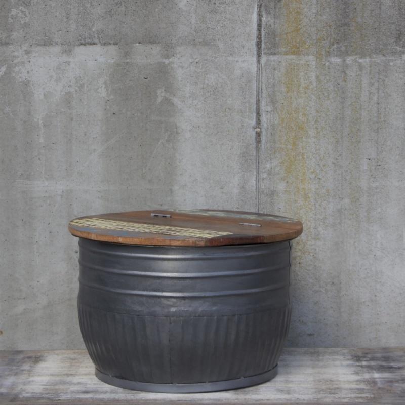 Salontafel met klep metal