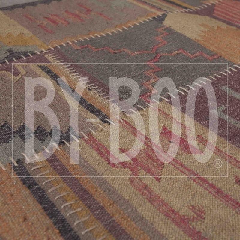 Carpet Kelim- Beige/Blue