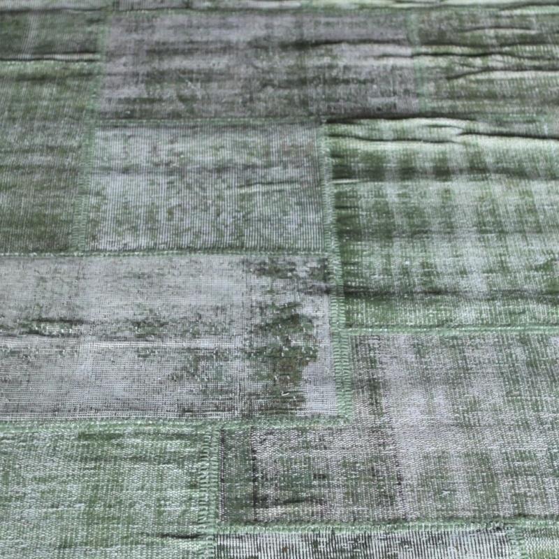 Vintage patchwork Turks Carpet Light green
