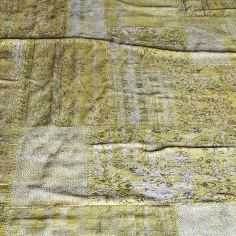 Vintage patchwork Turks Carpet Yellow