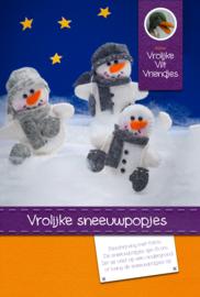 Vrolijke sneeuwpopjes