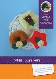 Petit four Kerst