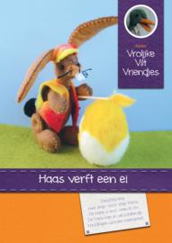 Haas verft een ei