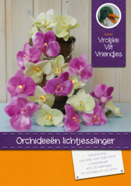 Orchideeën lichtjesslinger  incl. lampjes