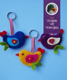 Lovebird sleutelhanger blauw