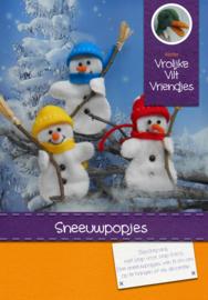 Sneeuwpopjes 3 stuks geel-blauw-rood
