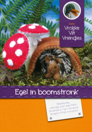 Egel in boomstronk