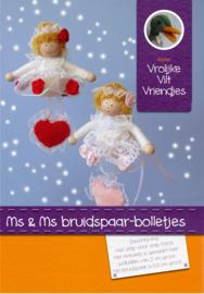 Ms en Ms bruidspaar-bolletjes