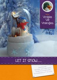Patroonblad stolp Let is snow...