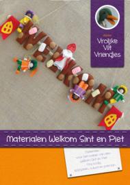 Materiaalpakket Welkom Sint en Piet chocolade