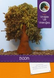 Boom met verschillende groentinten