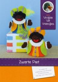 Patroonblad Zwarte Piet vingerpopjes