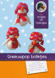 Sneeuwpop bolletjes met gebreide muts