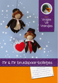 Mr en Mr bruidspaar-bolletjes