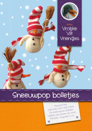 Sneeuwpop bolletjes met muts