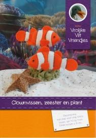 Clownvissen, zeester  en koraal