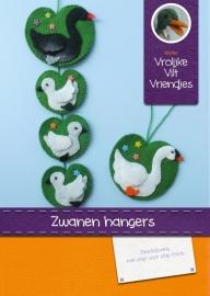 Patroonblad Zwanen hangers
