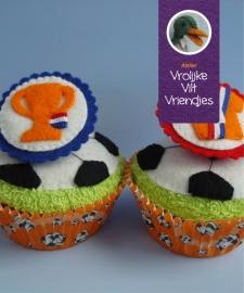 Voetbal cupcakes