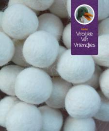 Wolbal wit klein