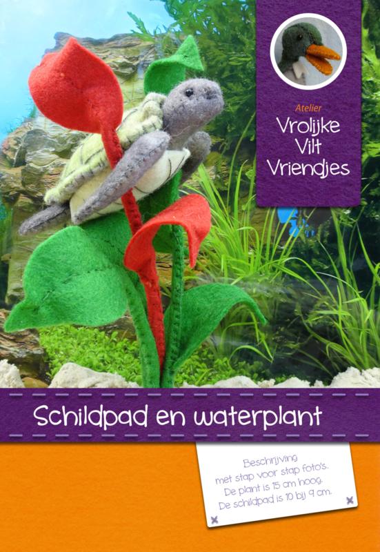 Schildpad met waterplant