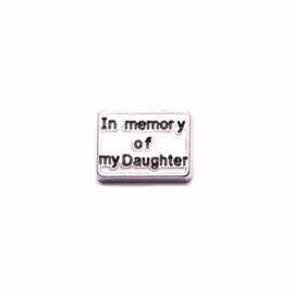 "Memory Locket charm ""In memory of my daughter"""