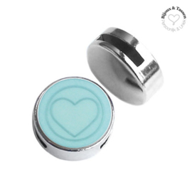 Slider 20mm hart matt Haze blue