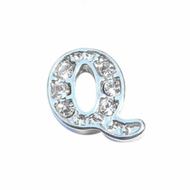 Floating Locket Charm letter Q