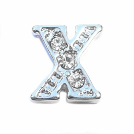 Floating Locket Charm letter X
