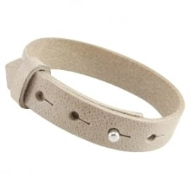 Cuoio armband leer 15 mm Country grey XL