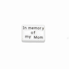 "Memory Locket charm ""In memory of my Mom"""