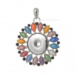 Kleurrijke Clickhanger met RVS ball chain ketting