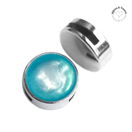 Slider 20 mm Pearl shine Indicolite blue