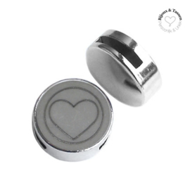 Slider 20mm hart matt Stormy silver grey