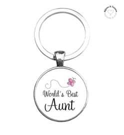 "Sleutelhanger ""World's best Aunt"""