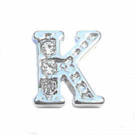 Floating Locket Charm letter K