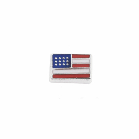 "Floating Locket Charm ""Amerikaanse vlag"""