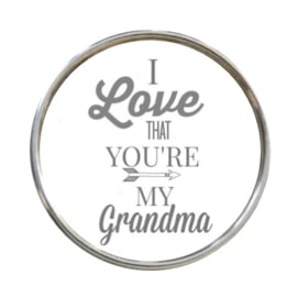 "Tekst slider ""I love that you're my grandma"""
