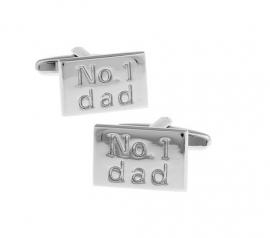 """Manchetknopen """"No.1 Dad"""""""