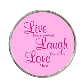 """Tekst slider """"Live Laugh Love"""""""