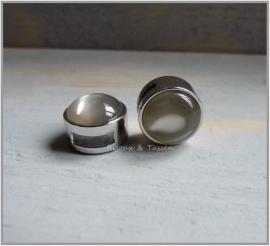 Slider 12 mm Zilver grijs