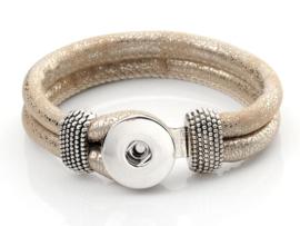 Click armband beige/metallic