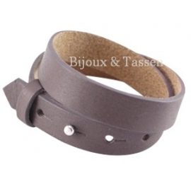 Cuoio armband leer 15 mm dubbel Dark Aubergine Brown