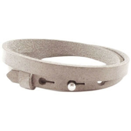 Cuoio armband leer 8 mm dubbel dark Country Grey