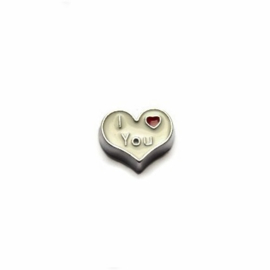 "Floating Locket Charm ""I love You"""