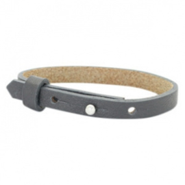 Cuoio armband leer 8 mm Kids Lava grey