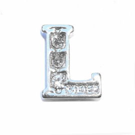 Floating Locket Charm letter L
