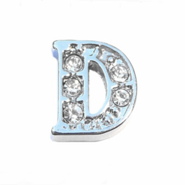 Floating Locket Charm letter D